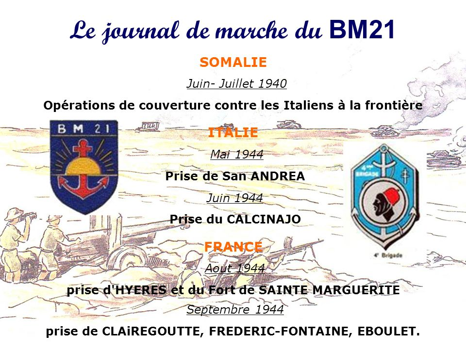 Le journal de marche du BM21