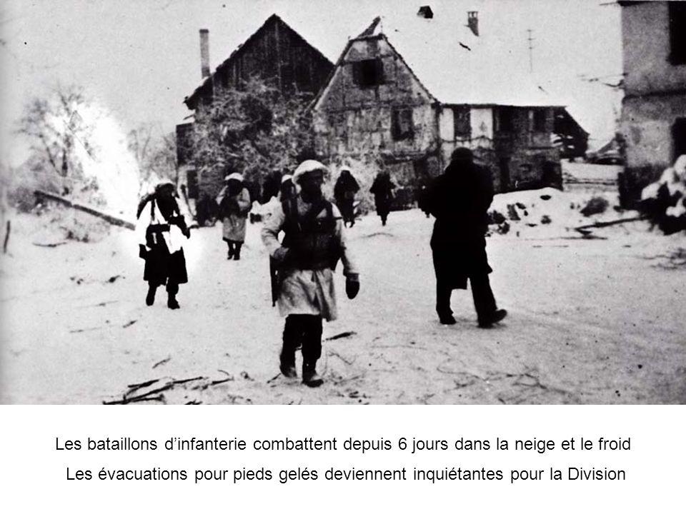 Les bataillons d'infanterie combattent depuis 6 jours dans la neige et le froid