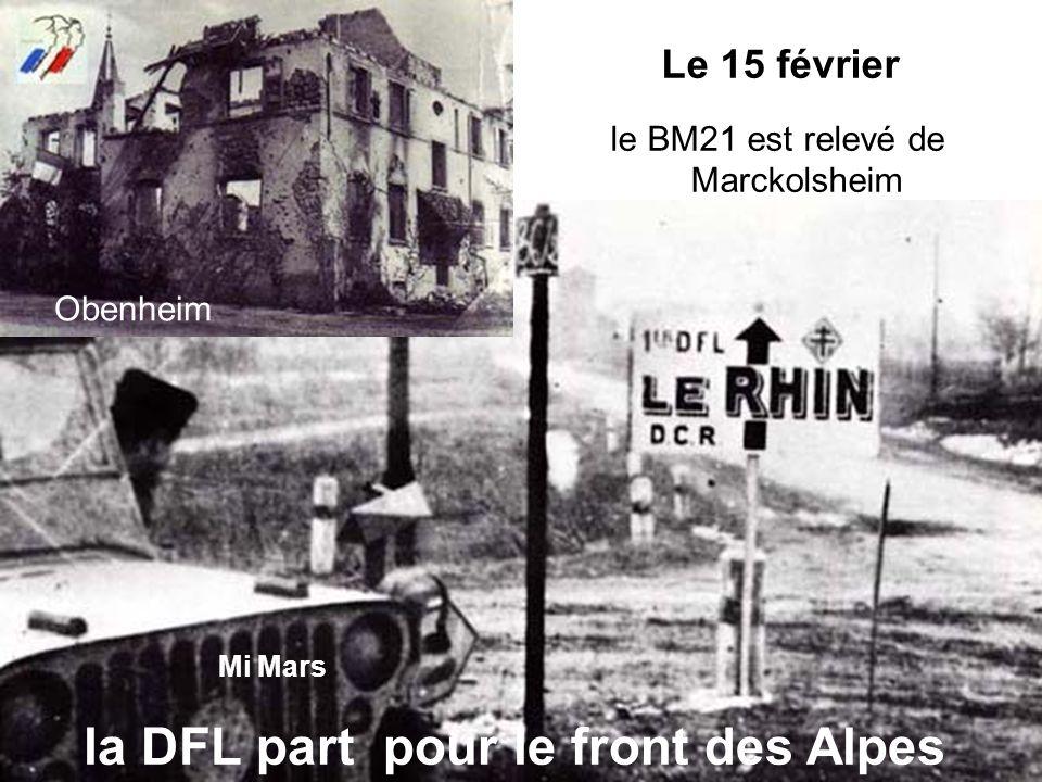 le BM21 est relevé de Marckolsheim
