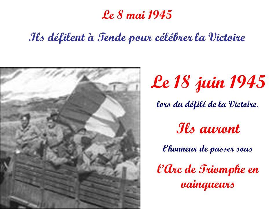Ils défilent à Tende pour célébrer la Victoire