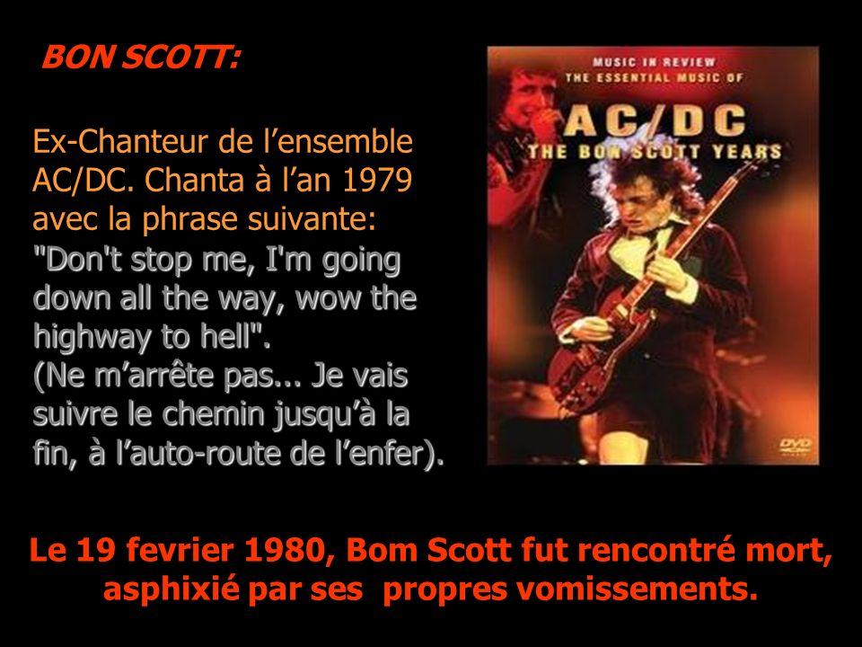 BON SCOTT: