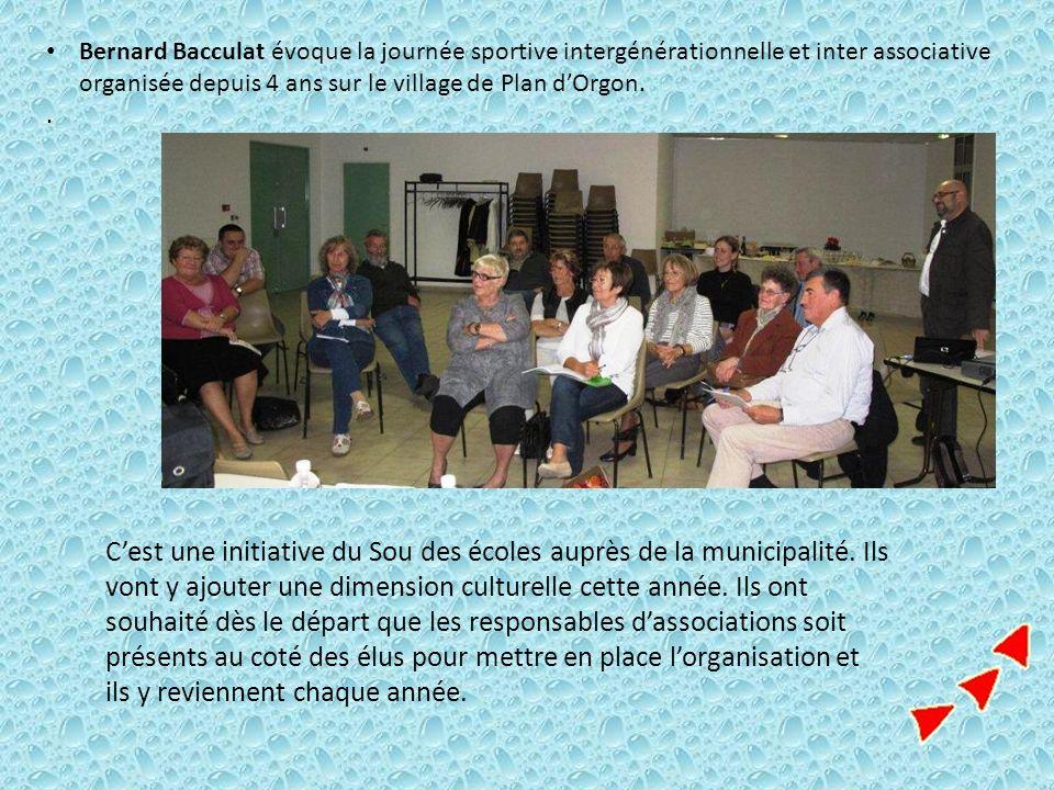 Bernard Bacculat évoque la journée sportive intergénérationnelle et inter associative organisée depuis 4 ans sur le village de Plan d'Orgon.