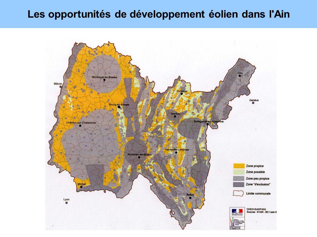 Les opportunités de développement éolien dans l Ain