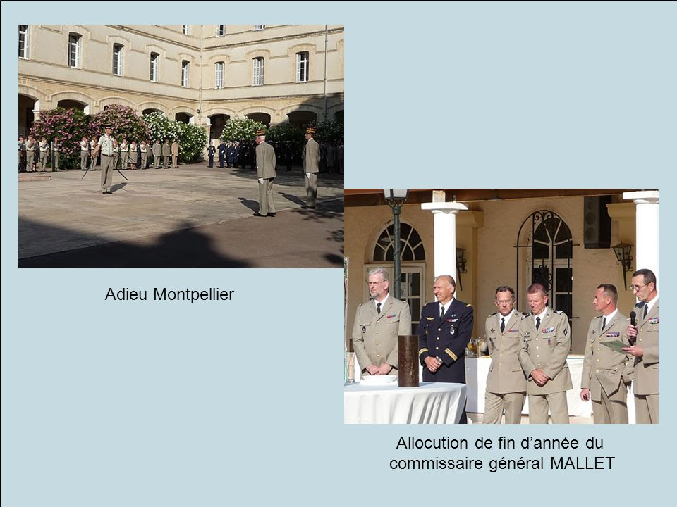 Allocution de fin d'année du commissaire général MALLET