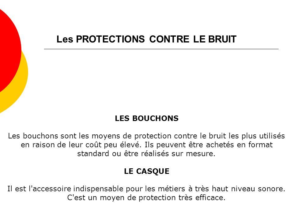 Les PROTECTIONS CONTRE LE BRUIT