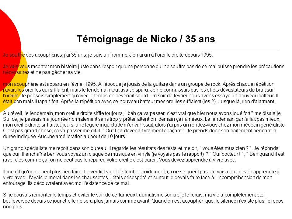 Témoignage de Nicko / 35 ans