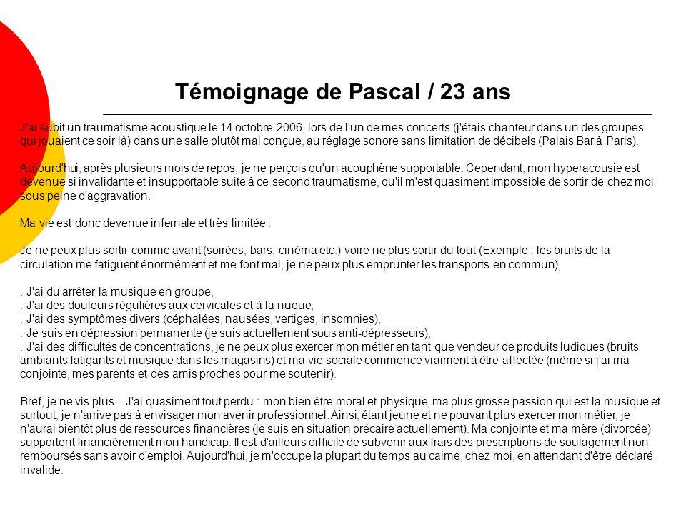 Témoignage de Pascal / 23 ans