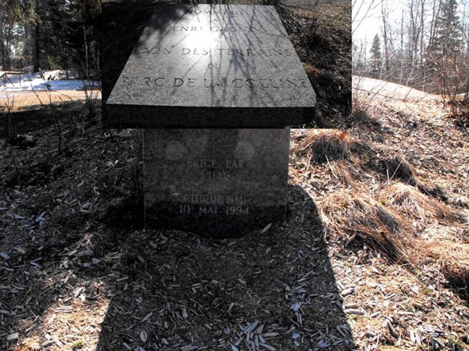 Hommage à la fondation et au lègue des terres par la famille Gagnon.