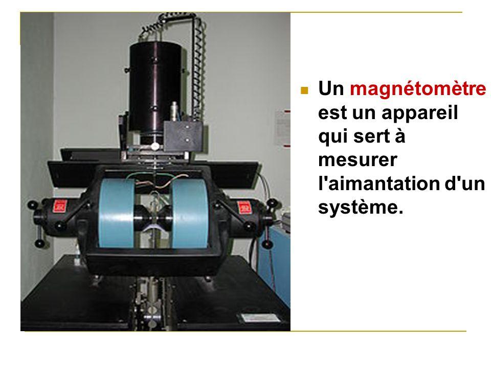 Un magnétomètreest un appareil qui sert à mesurer l aimantation d un système.
