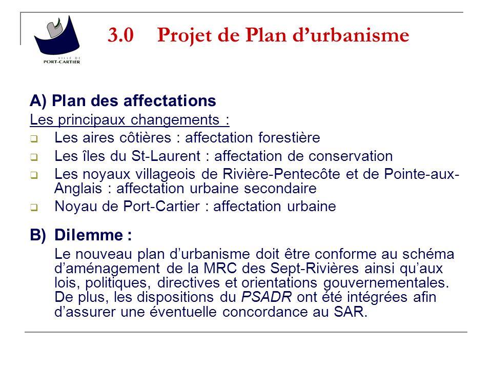 3.0 Projet de Plan d'urbanisme