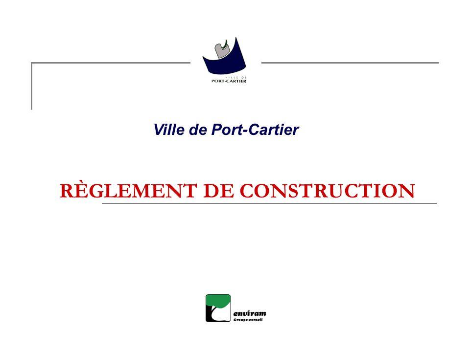 RÈGLEMENT DE CONSTRUCTION