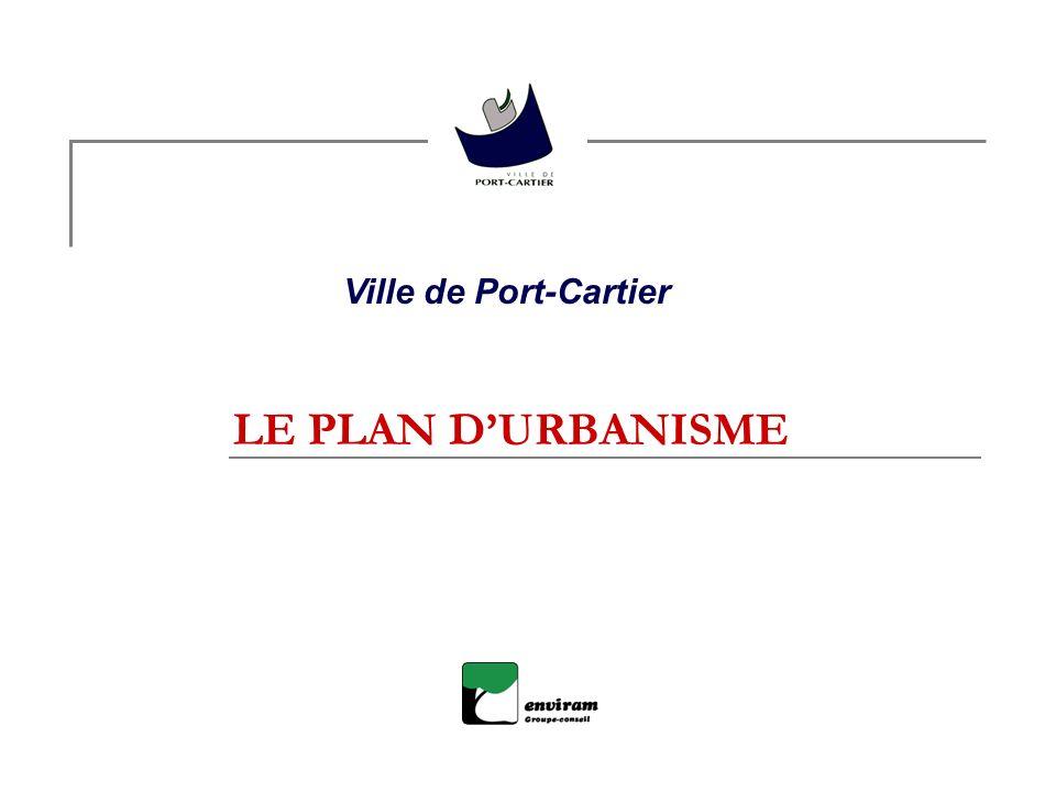 Ville de Port-Cartier LE PLAN D'URBANISME