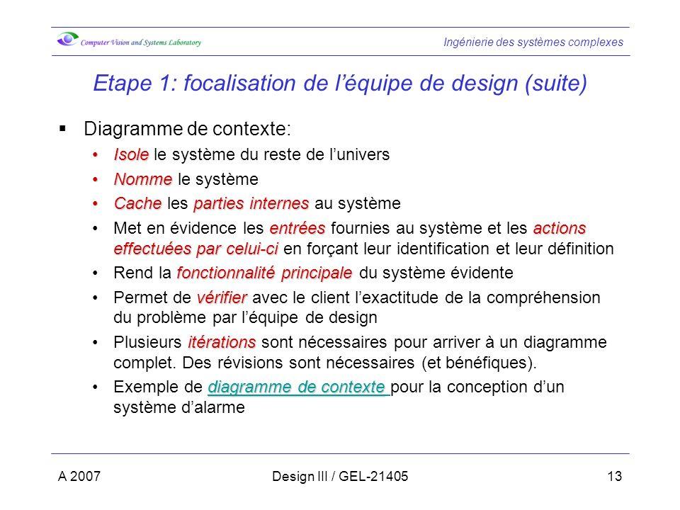 Etape 1: focalisation de l'équipe de design (suite)