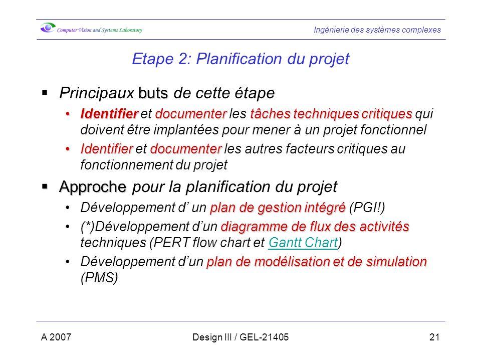 Etape 2: Planification du projet