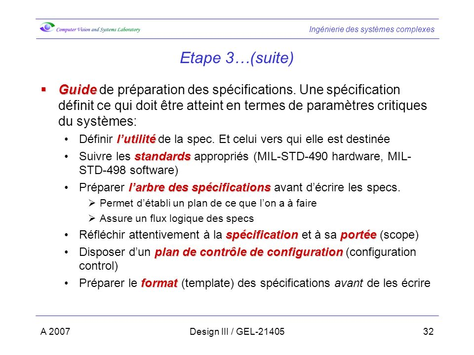 Etape 3…(suite)