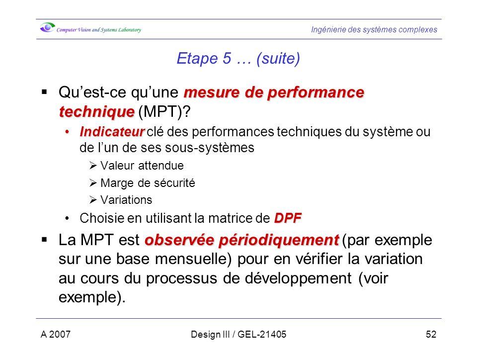 Qu'est-ce qu'une mesure de performance technique (MPT)
