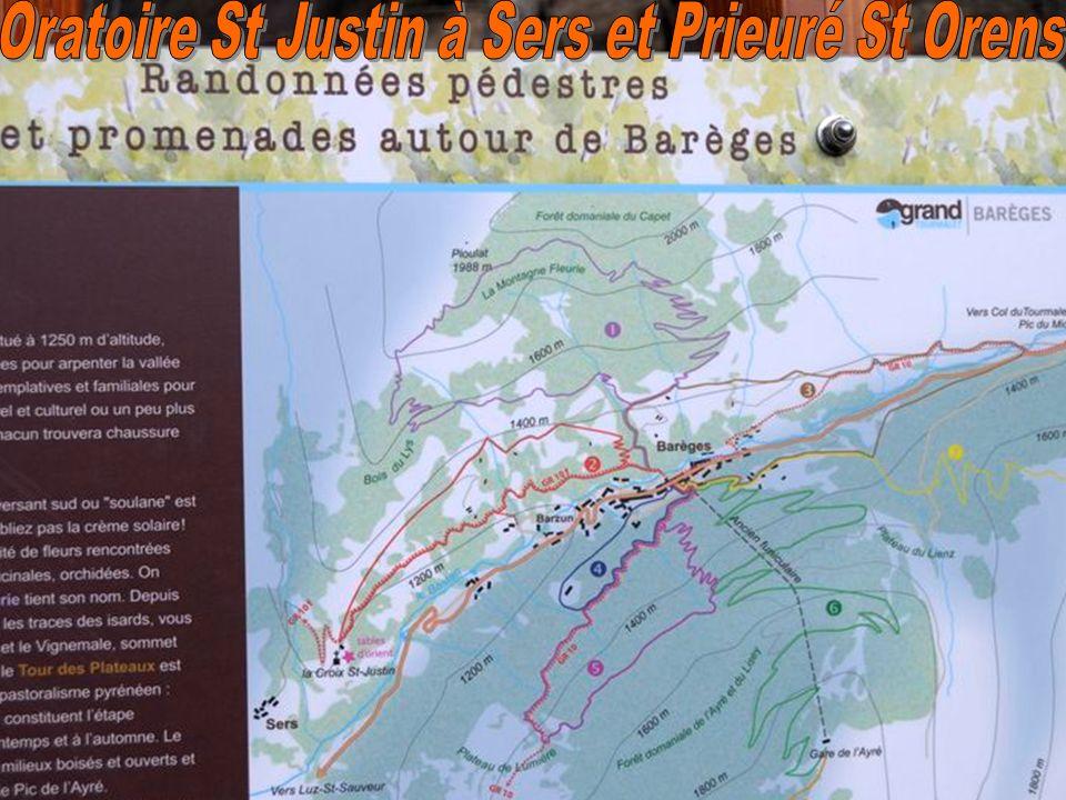 Oratoire St Justin à Sers et Prieuré St Orens