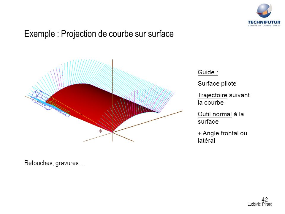 Exemple : Projection de courbe sur surface