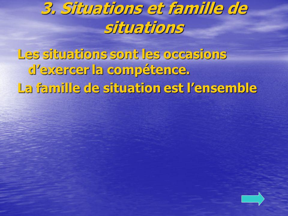 3. Situations et famille de situations