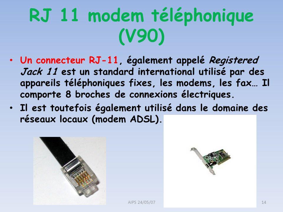 RJ 11 modem téléphonique (V90)