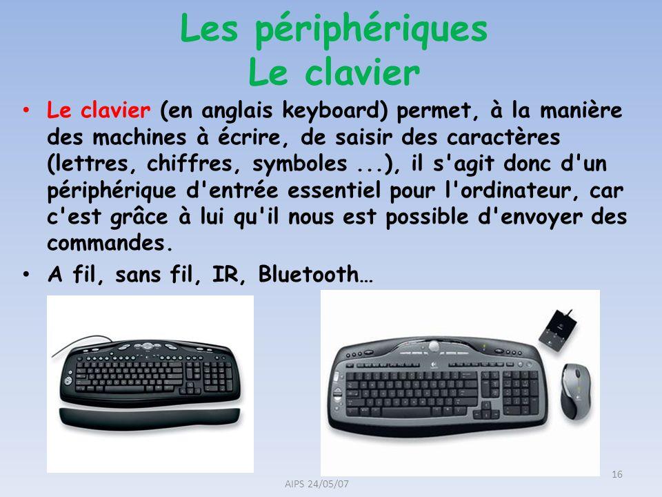 Les périphériques Le clavier