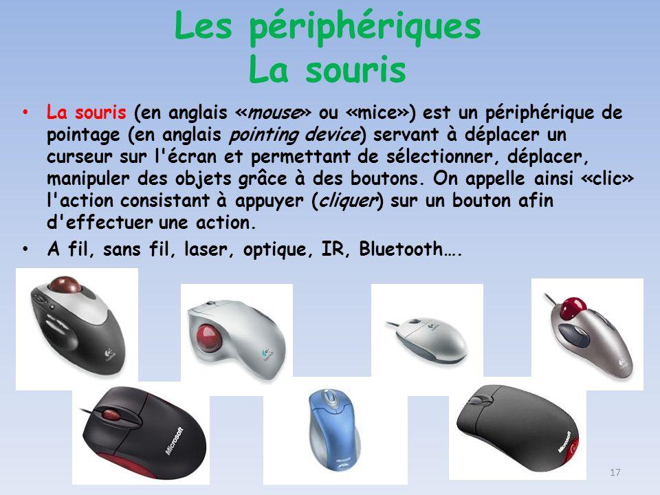 Les périphériques La souris