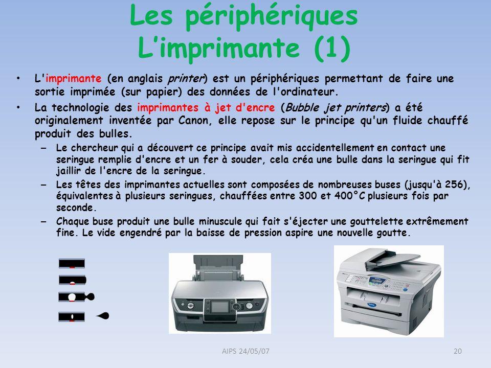 Les périphériques L'imprimante (1)