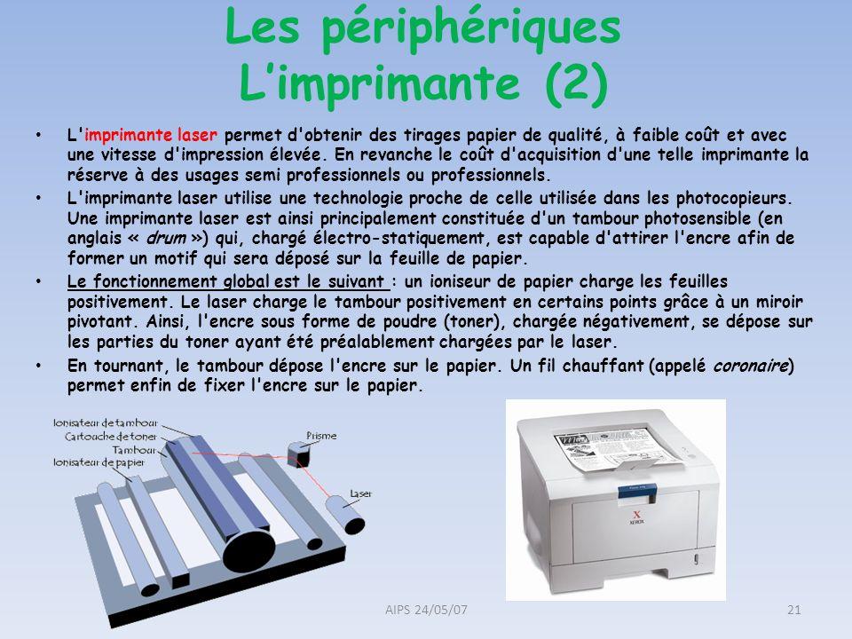 Les périphériques L'imprimante (2)
