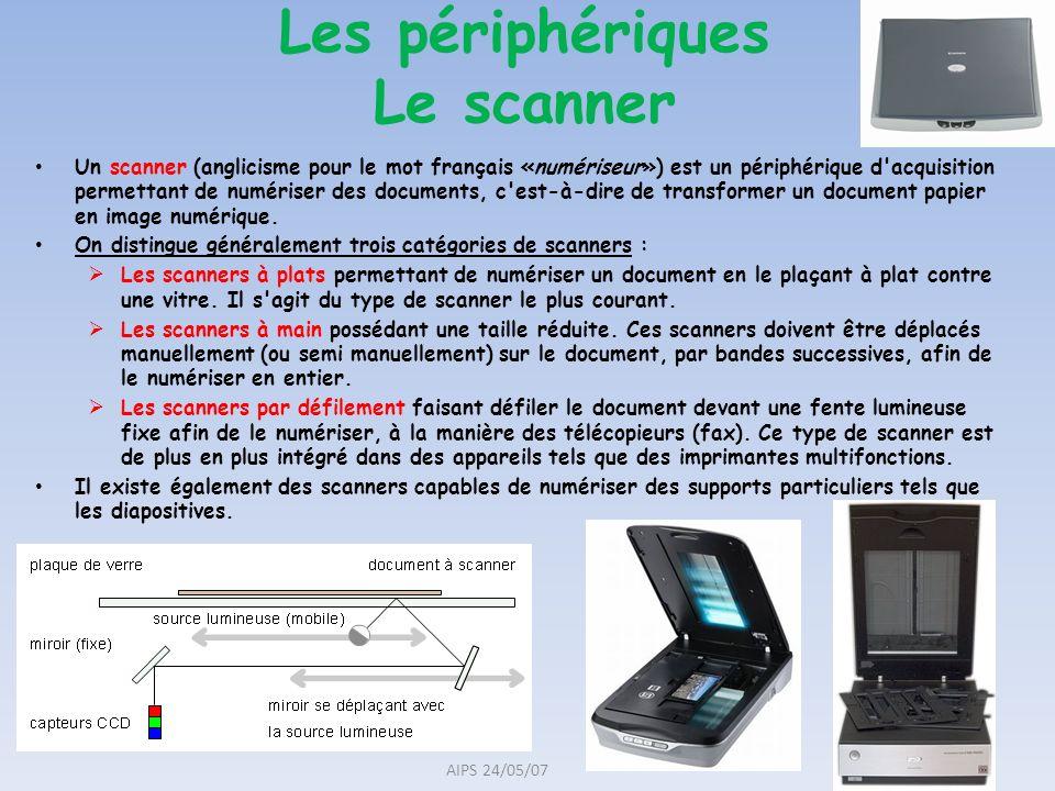 Les périphériques Le scanner