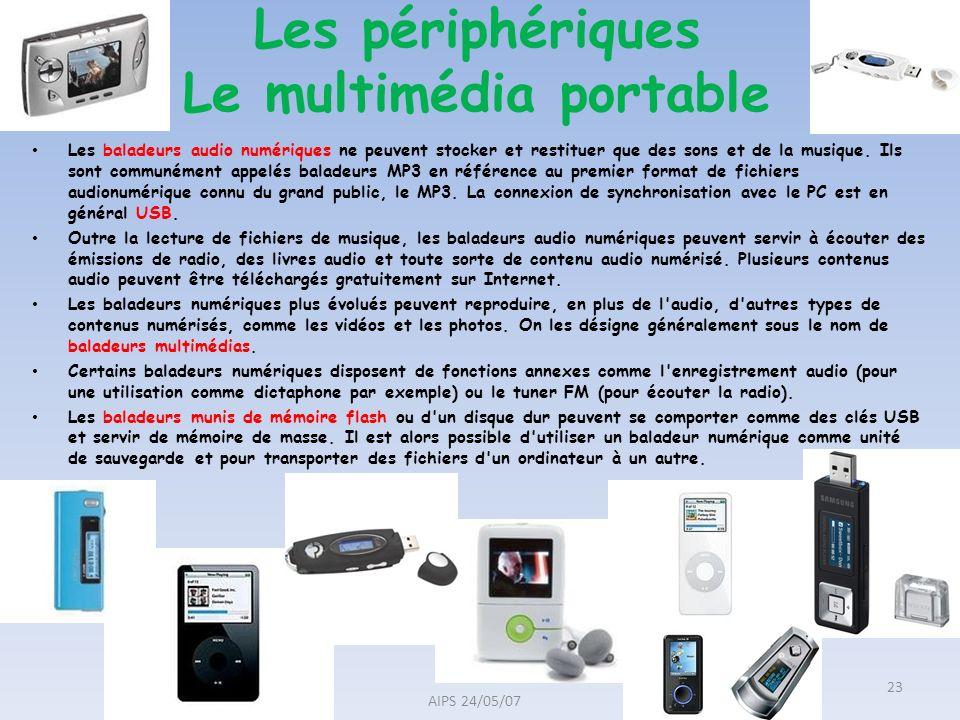 Les périphériques Le multimédia portable