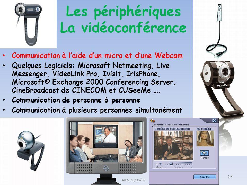 Les périphériques La vidéoconférence