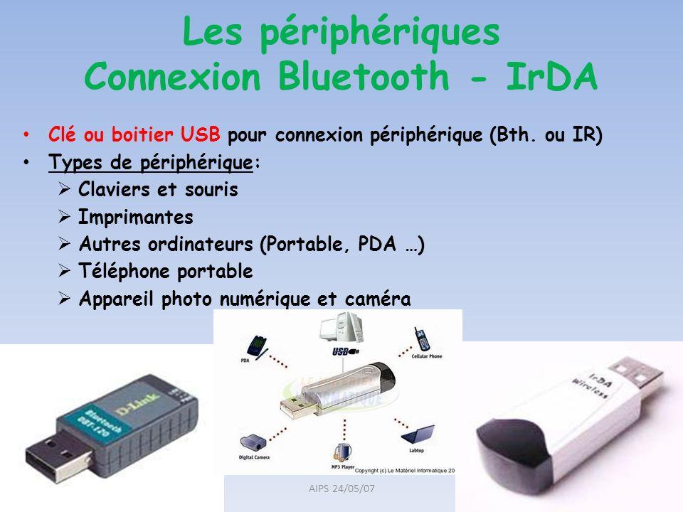 Les périphériques Connexion Bluetooth - IrDA