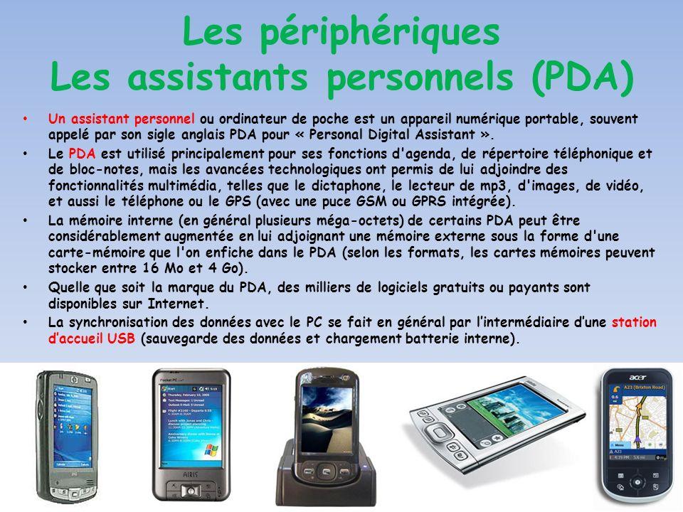 Les périphériques Les assistants personnels (PDA)