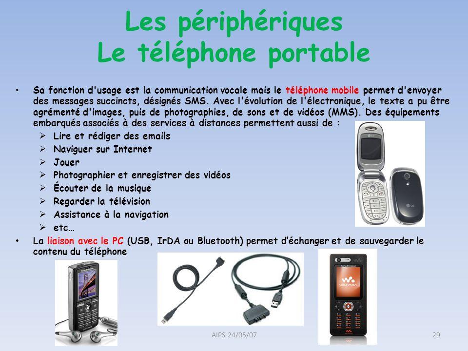 Les périphériques Le téléphone portable