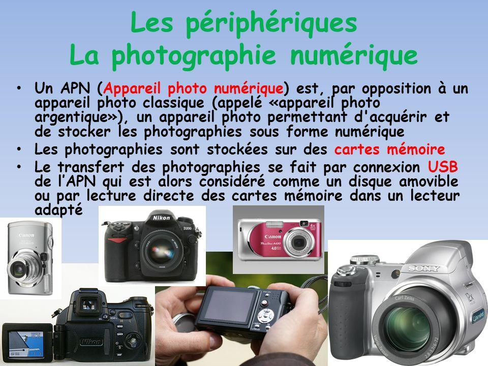 Les périphériques La photographie numérique