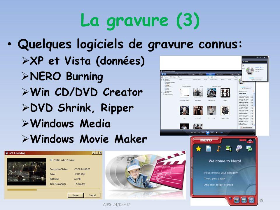 La gravure (3) Quelques logiciels de gravure connus: