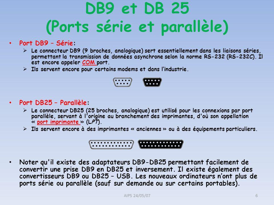 DB9 et DB 25 (Ports série et parallèle)