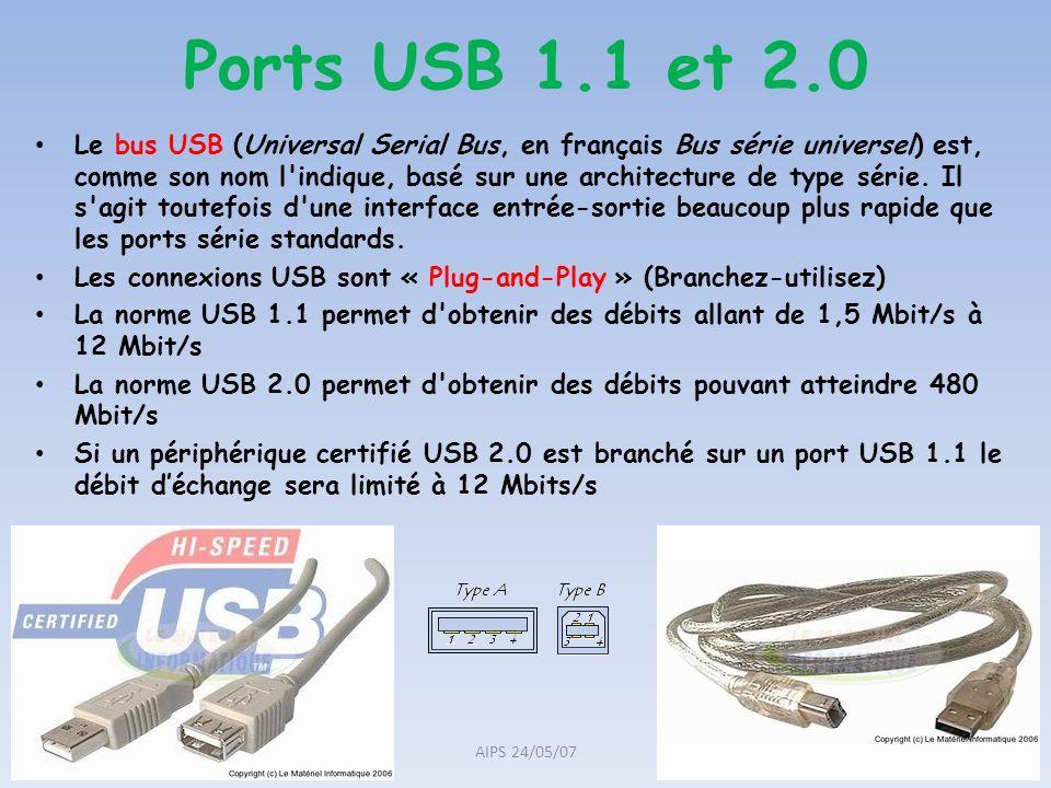 Ports USB 1.1 et 2.0