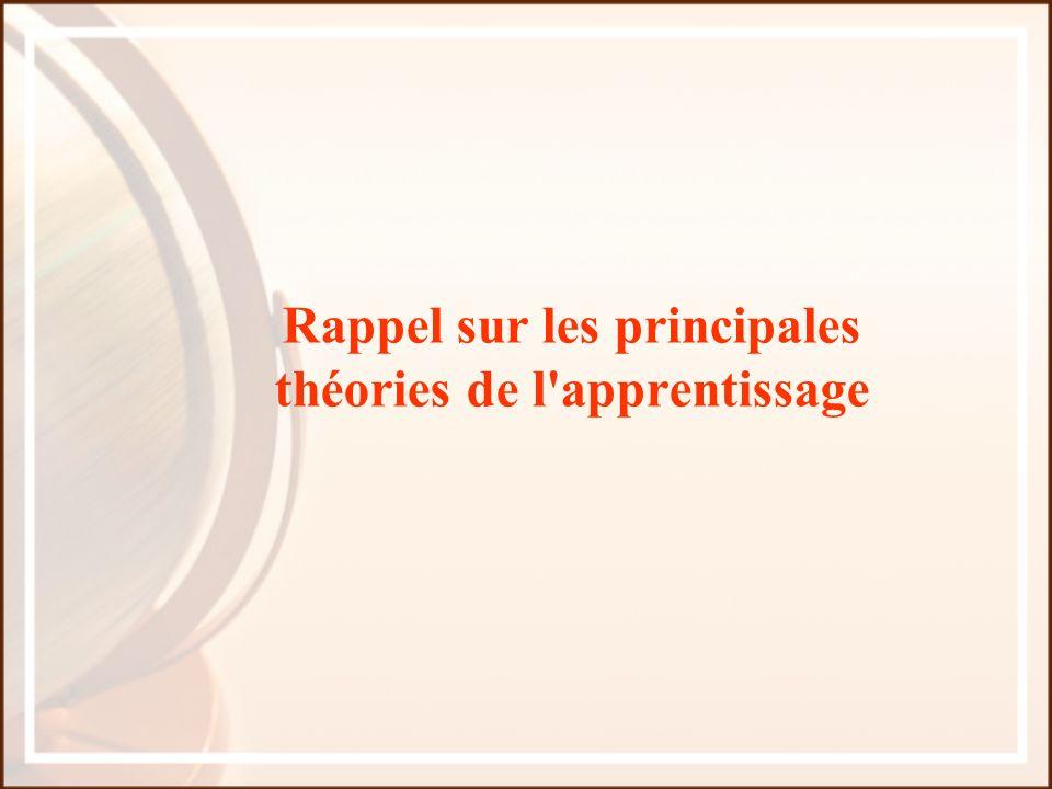 Rappel sur les principales théories de l apprentissage