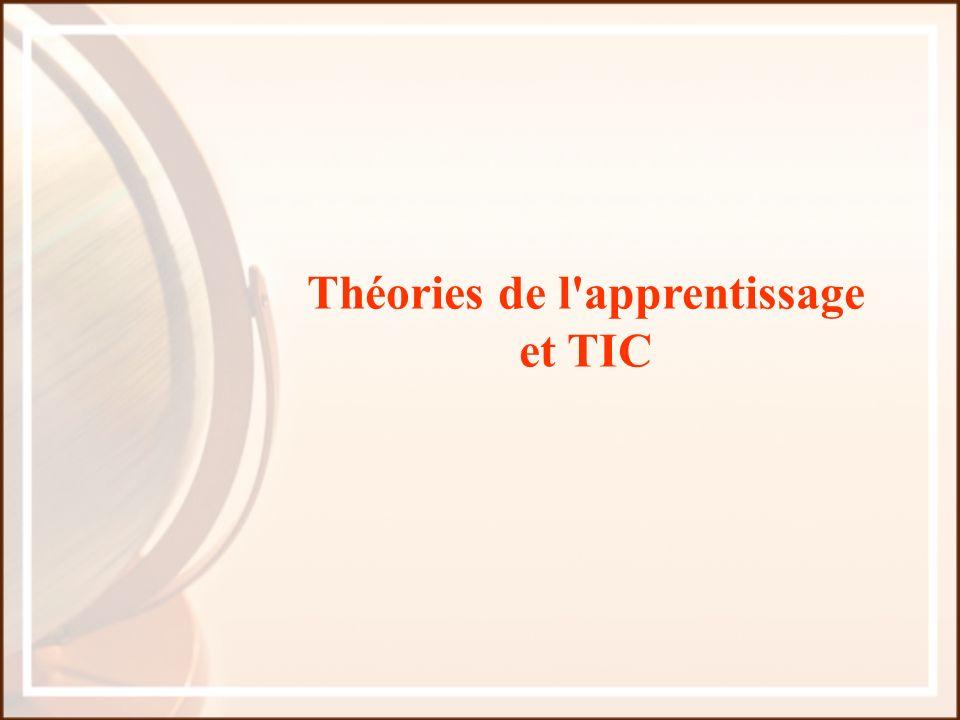Théories de l apprentissage et TIC