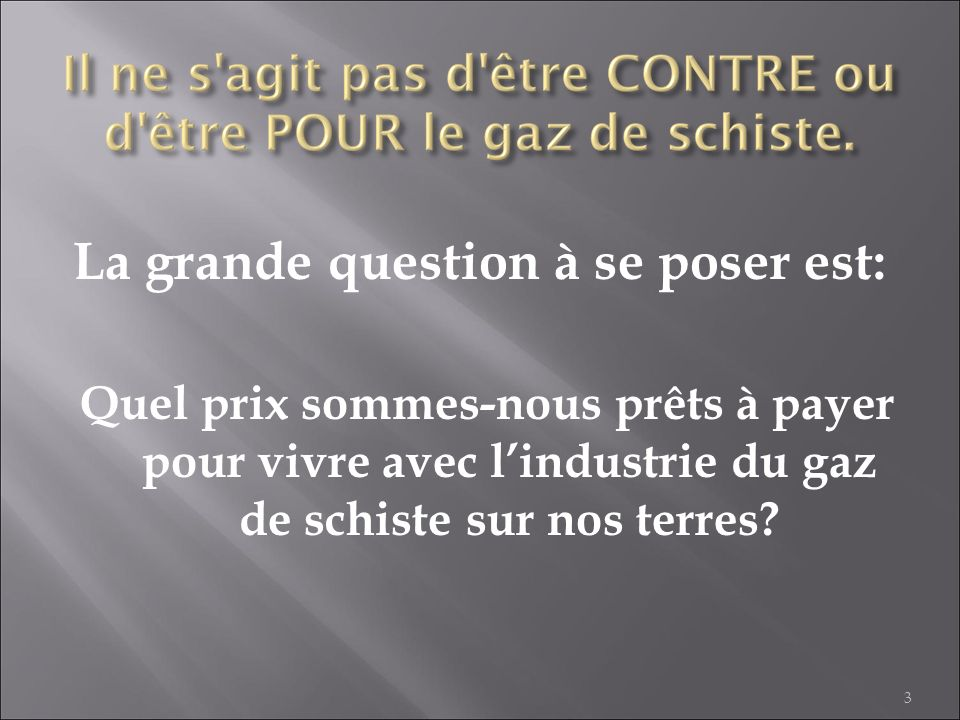 La grande question à se poser est: