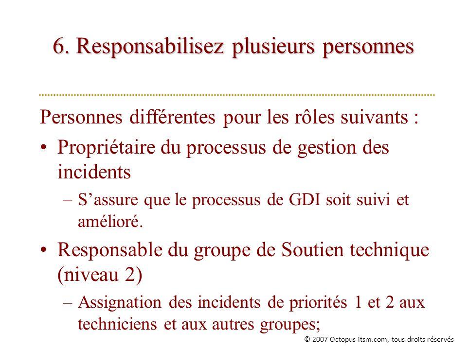 6. Responsabilisez plusieurs personnes