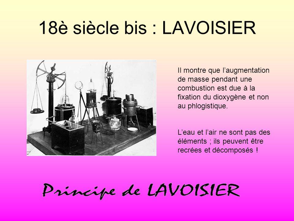 18è siècle bis : LAVOISIER