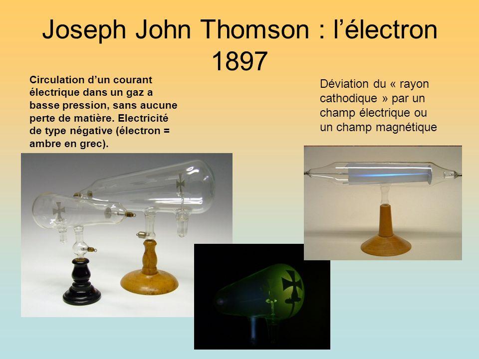 Joseph John Thomson : l'électron 1897
