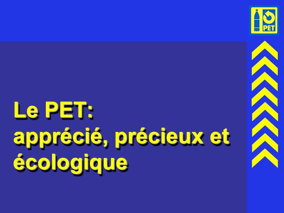 Le PET: apprécié, précieux et écologique