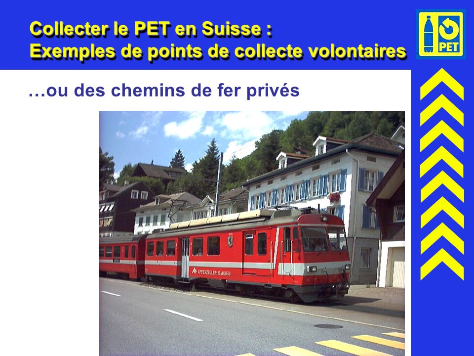 Collecter le PET en Suisse : Exemples de points de collecte volontaires
