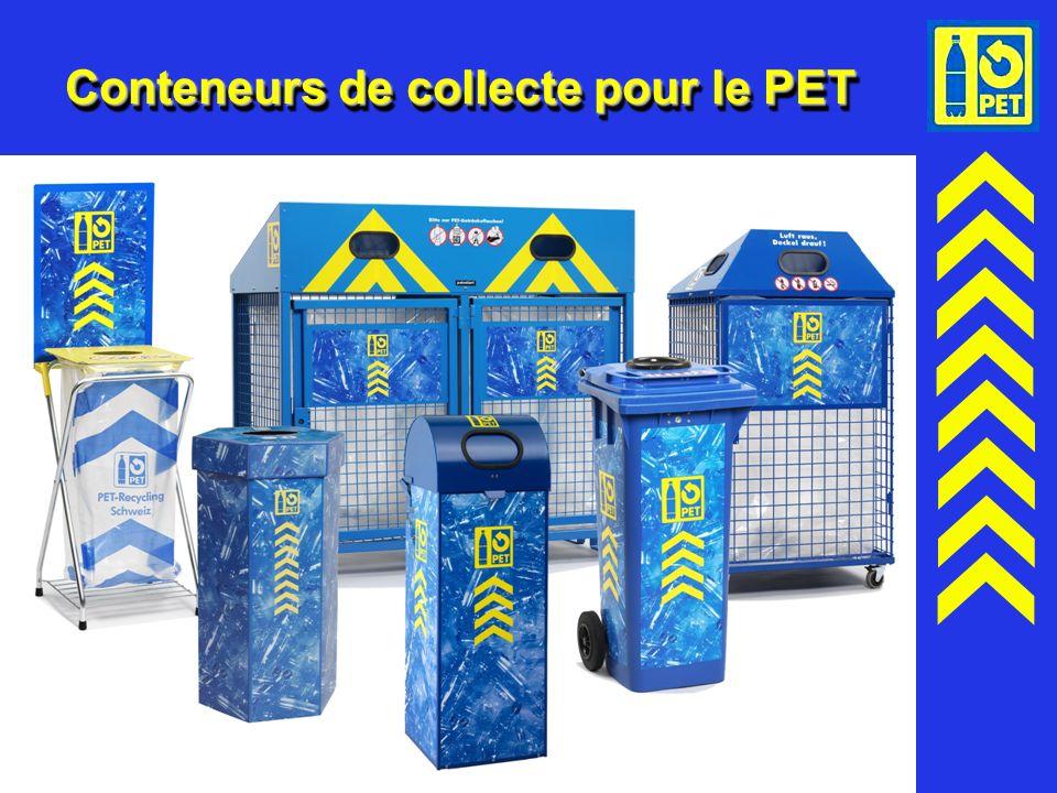 Conteneurs de collecte pour le PET