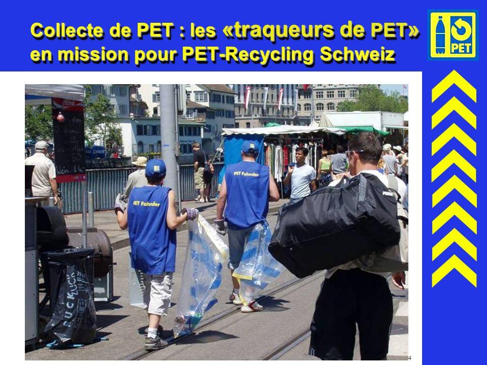 Collecte de PET : les «traqueurs de PET» en mission pour PET-Recycling Schweiz