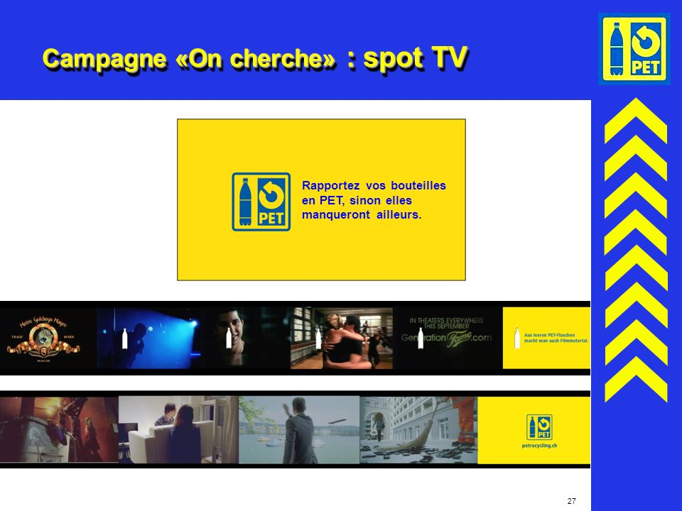 Campagne «On cherche» : spot TV