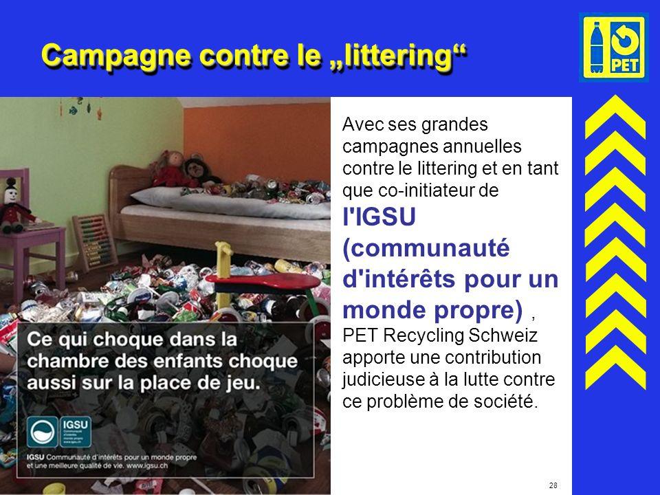 "Campagne contre le ""littering"
